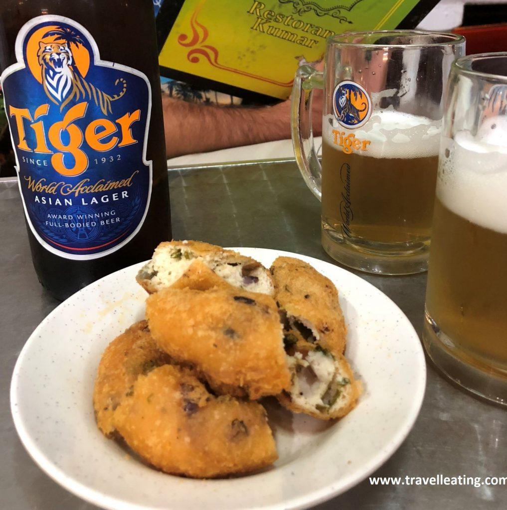 Aperitivo y cervezas en el Restoran Kumar.