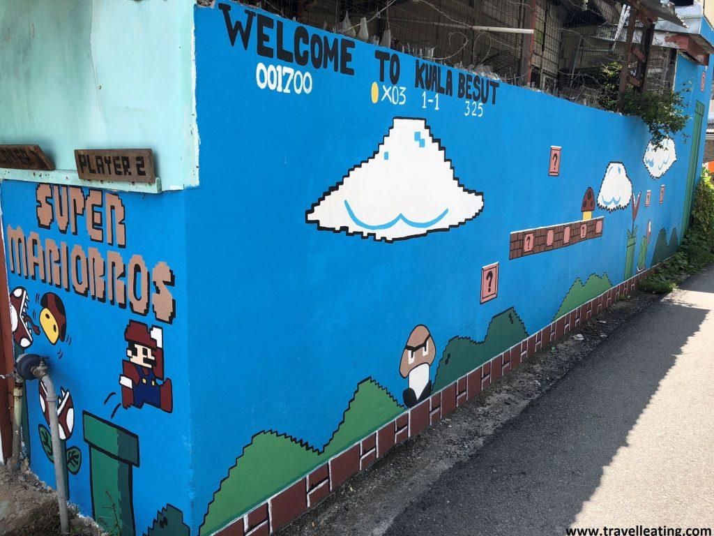 Murales de Kuala Besut, la entrada a las Perhentian.