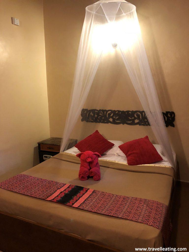 Nuestra habitación en el Ombak Beach Resort, en Perhentian Kecil.