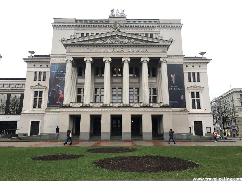 Ópera Nacional de Letonia, en Riga.