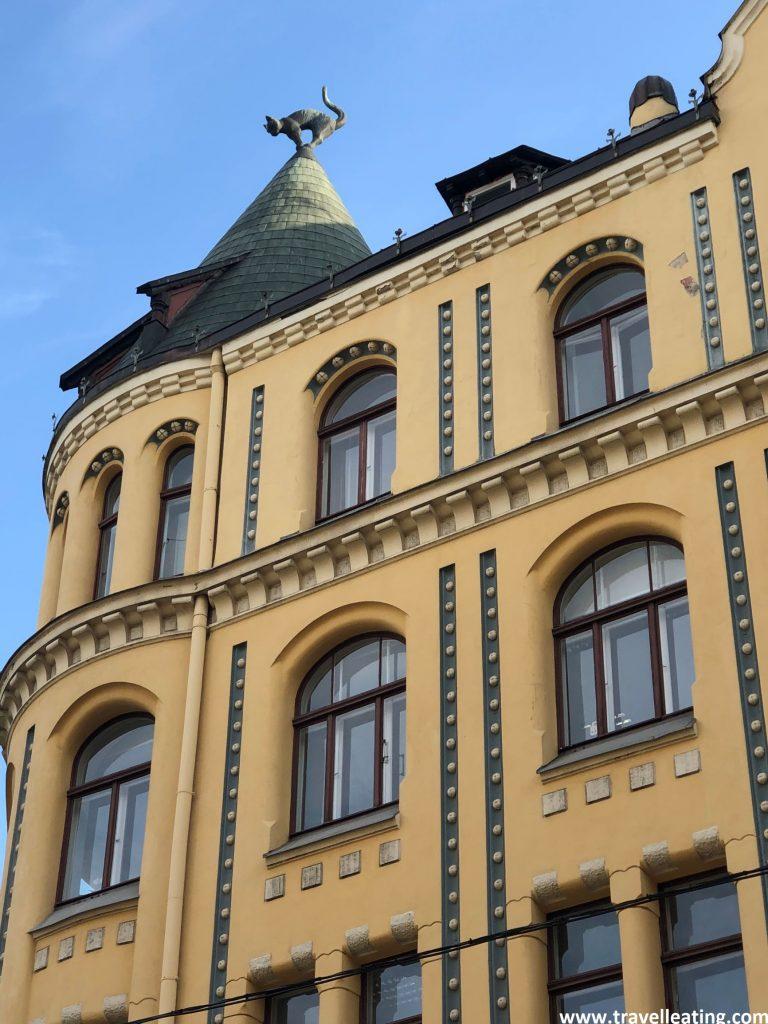 Casa de Los Gatos, en el casco antiguo de Riga.