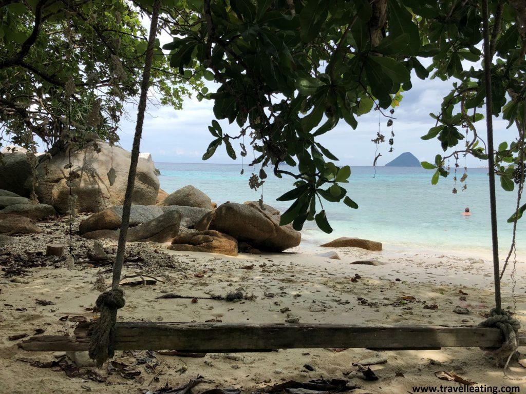El columpio de Adan&Eve Beach, en Perhentian Kecil.