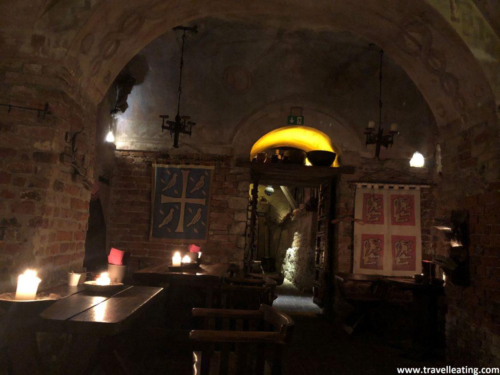 Restaurante medieval Rozengrals, uno de los restaurantes más recomendados de Riga.