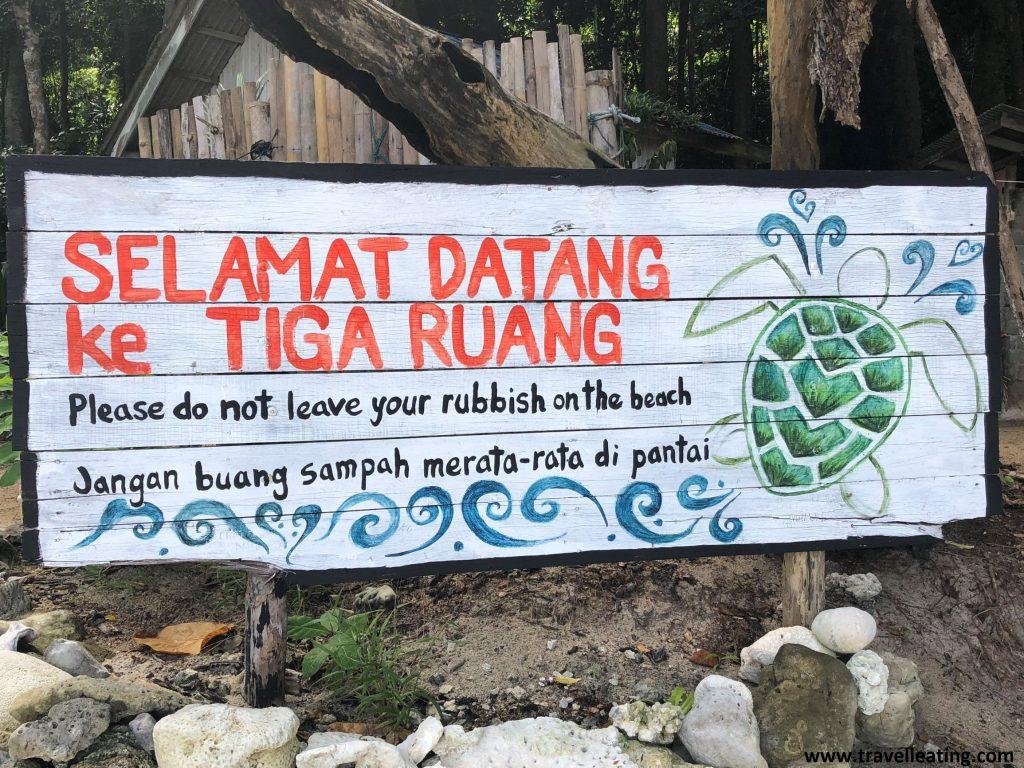Centro de conservación de tortugas en Turtle Beach. Perhentian Besar