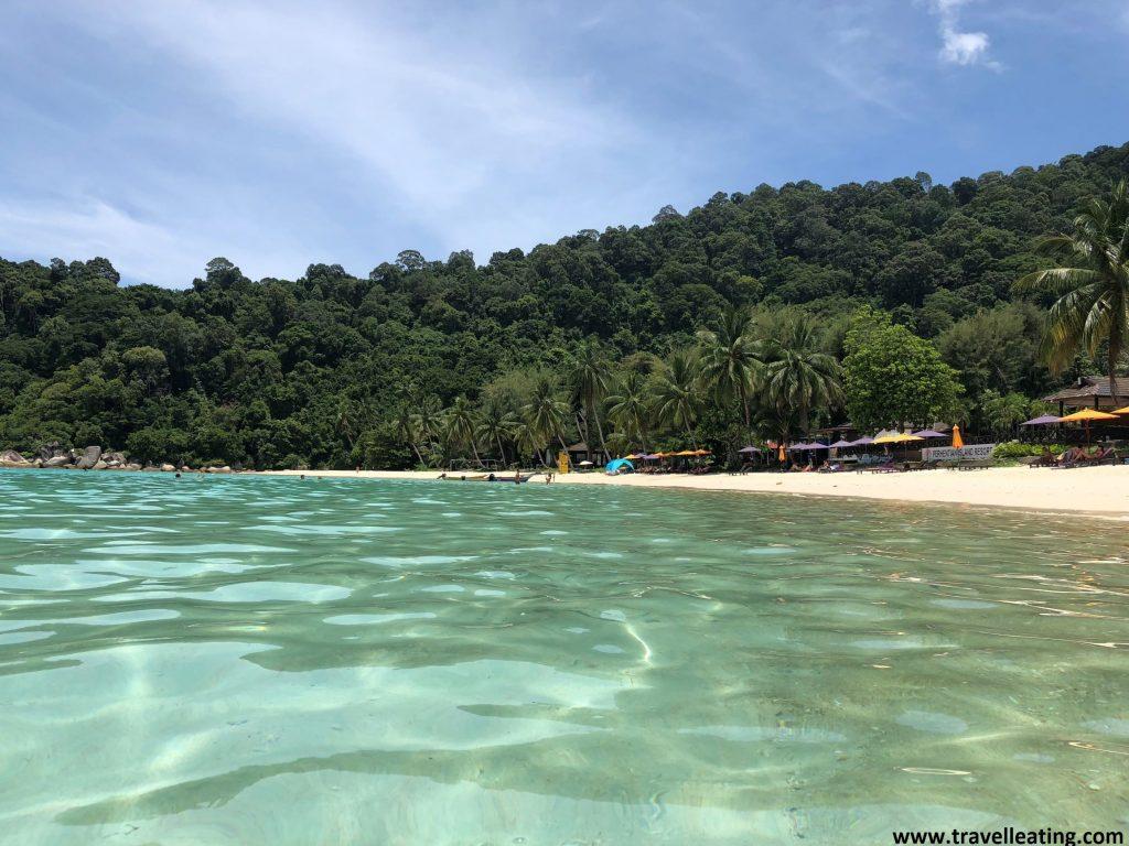 Playa PIR des del agua. Perhentian Besar.