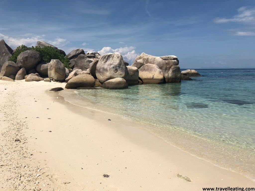 Primera playa de KK Beach, en Perhentian Besar.