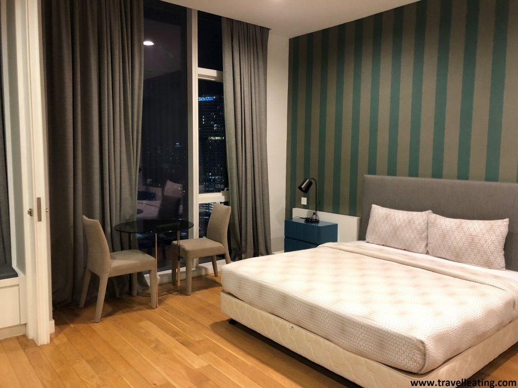 Habitación del apartamento del Platinum Suites KL.