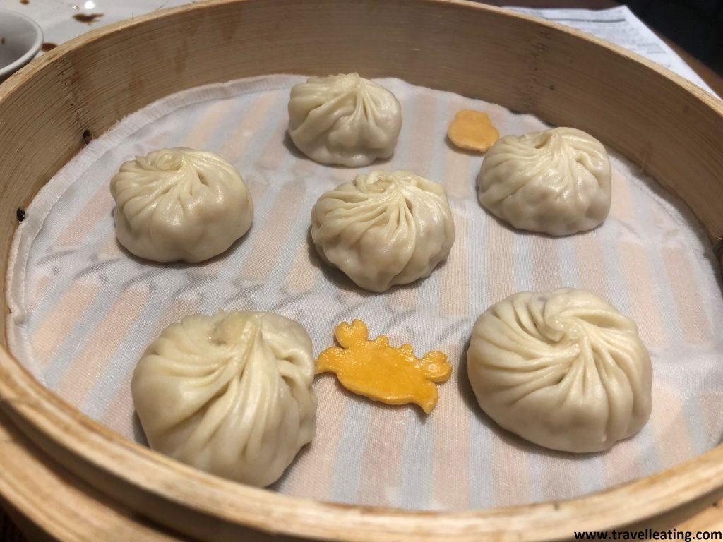 Xiao long bao de cangrejo, del Din Tai Fung de Kuala Lumpur.