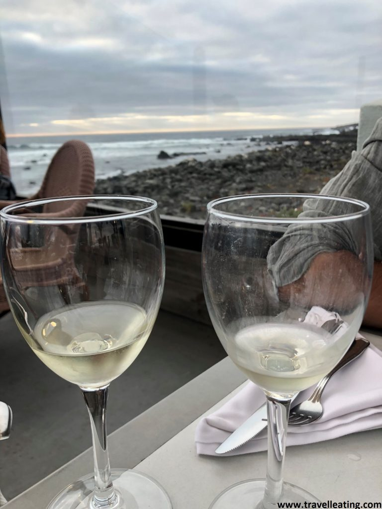 Vistas del mar desde la terraza del Restaurante Mar Azul, uno de los restaurantes más recomendados de Lanzarote.