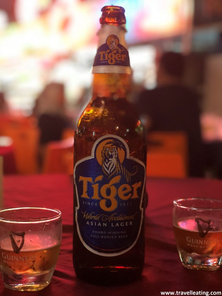 Cerveza Tiger.