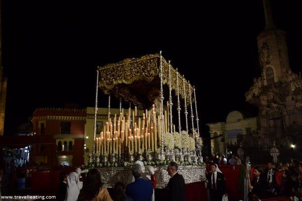 Paso de Semana Santa en Córdoba.